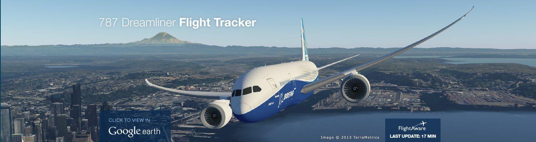 Boeing 787 Dreamliner Flighttracker