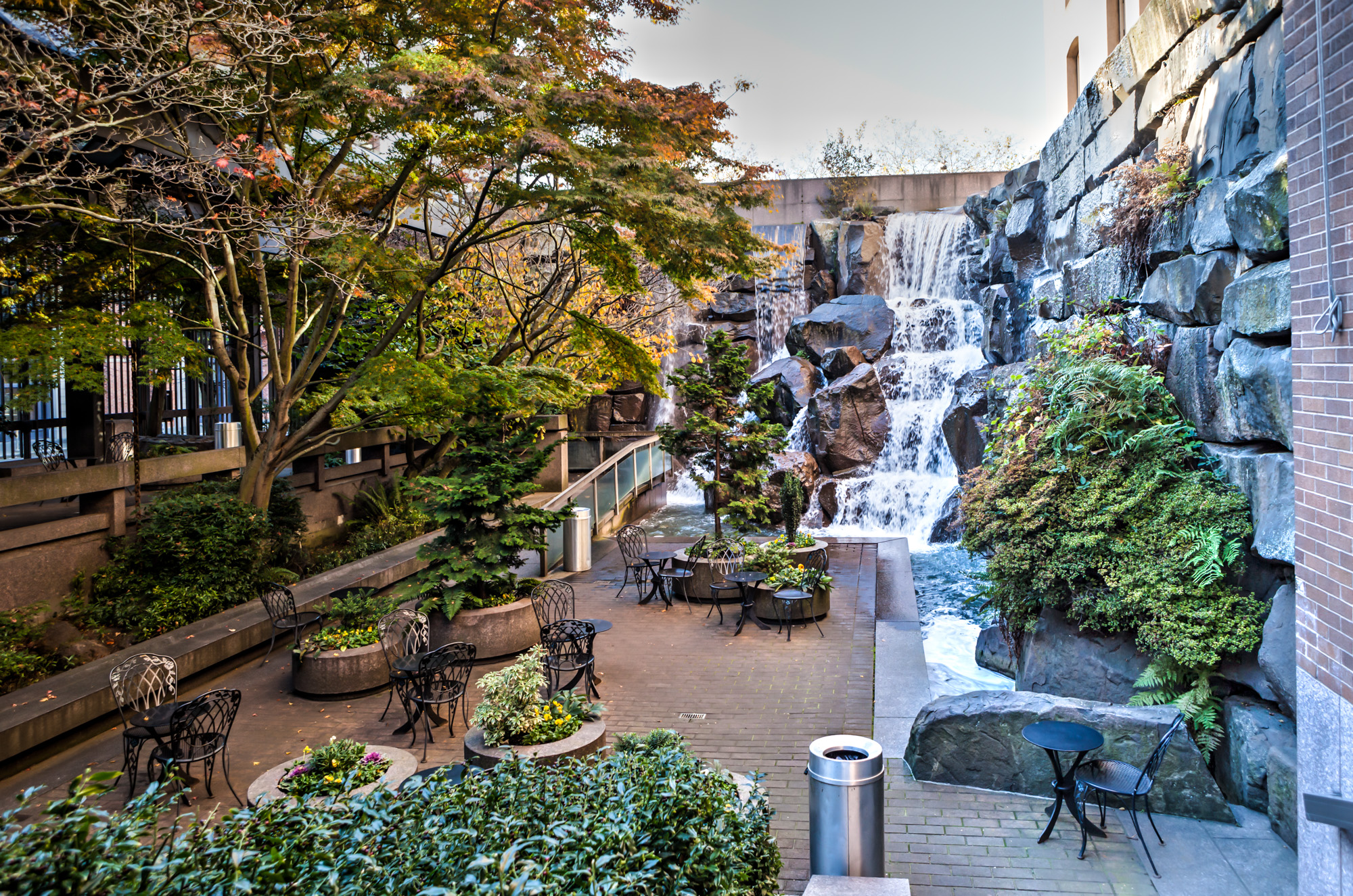 Waterfall garden a hidden gem in seattle gate to for Garden waterfall
