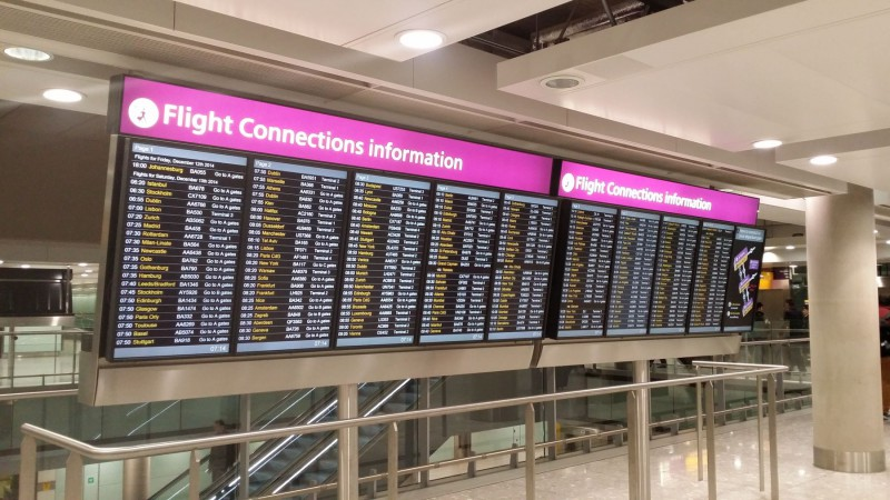 Flight Connections at London Heathrow Terminal 5