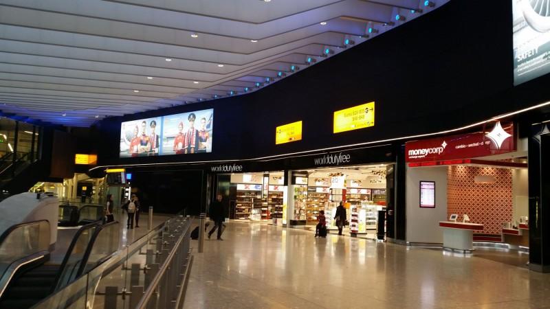 Shops at London Heathrow Terminal 2