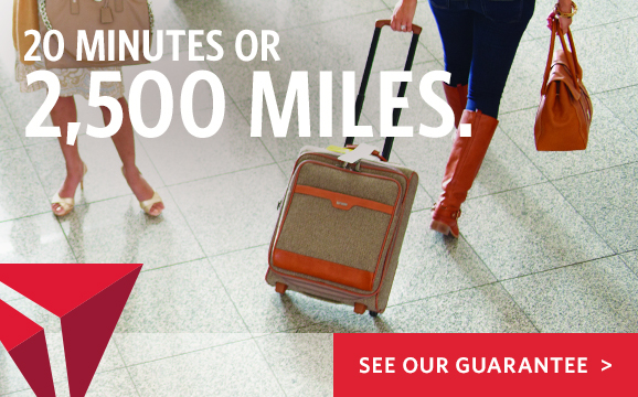 Delta Airlines: Earn bonus miles when your bags arrive late at the carousel