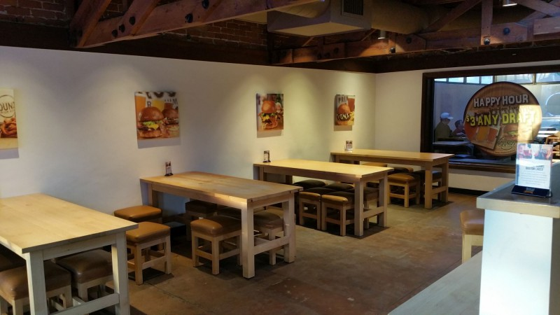 Inside Area of Rounds Premium Burgers