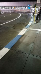 Blue&White painted curb