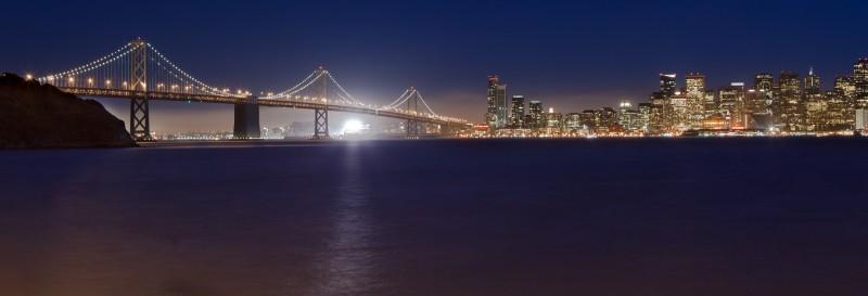 San Francisco Bay Bridge Night
