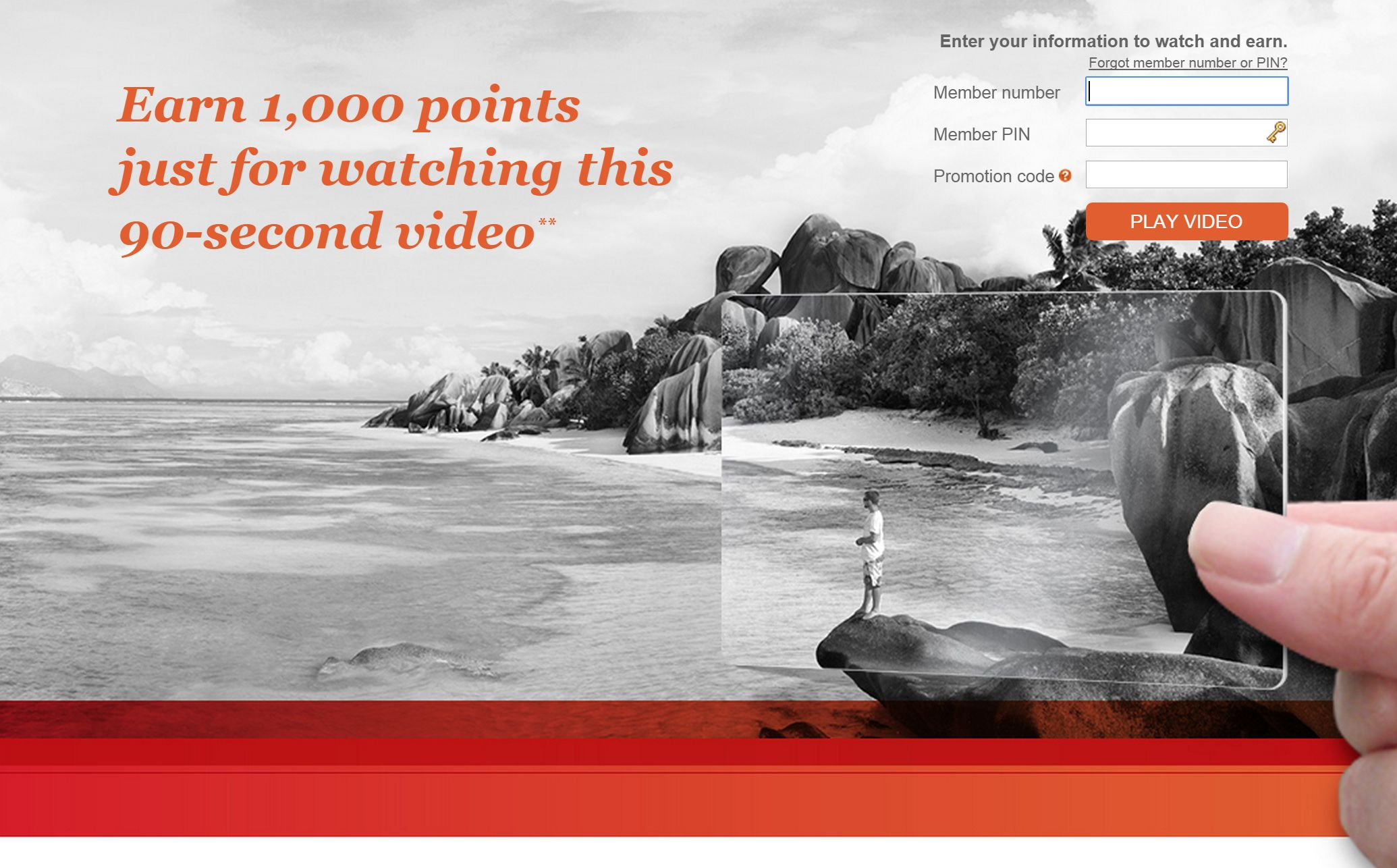IHG Rewards Club 90 second video gives you 1000 Points