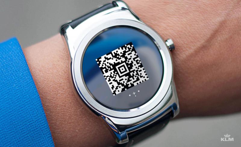 KLM Smartwatch Boardingpass