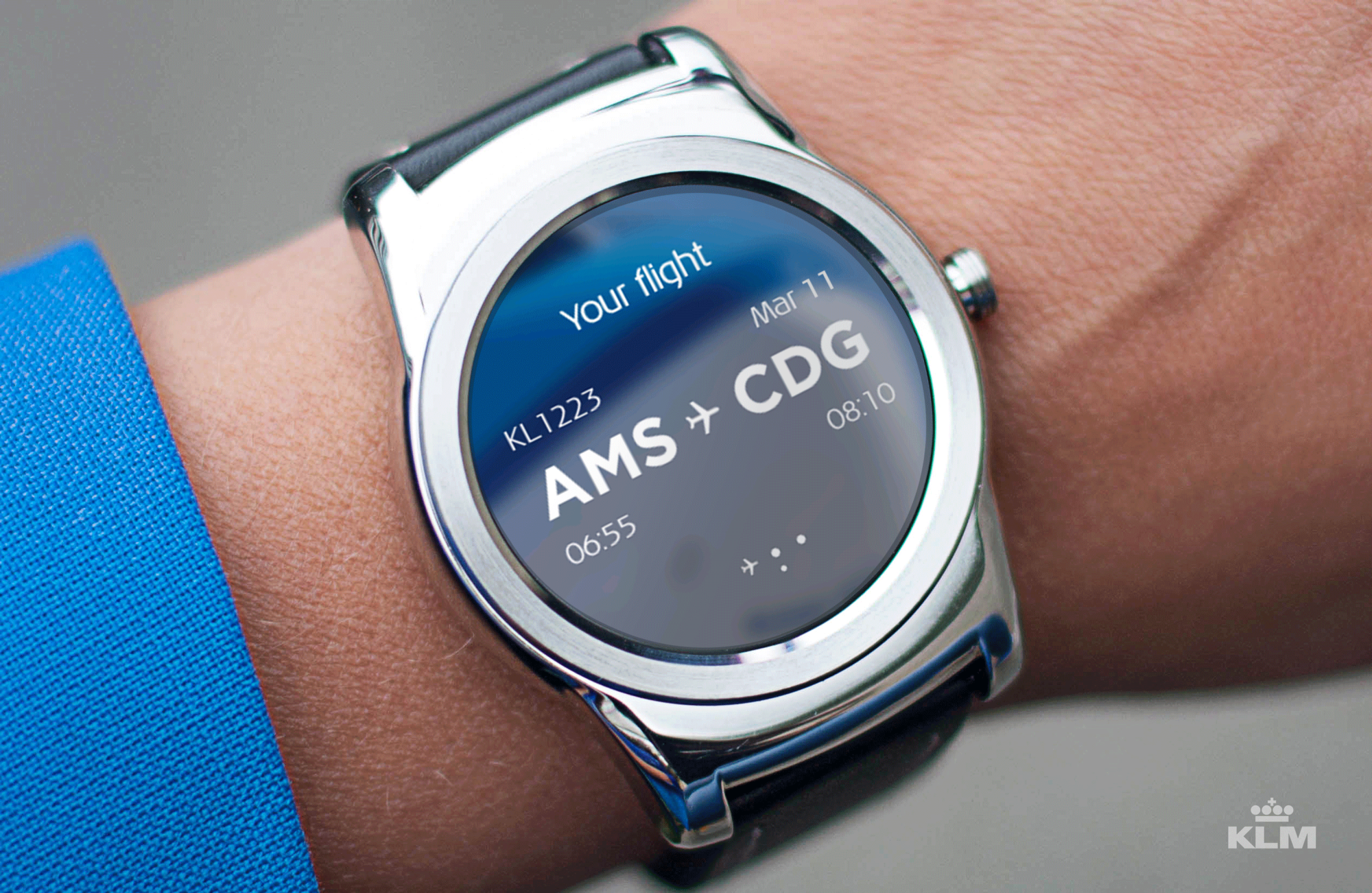 KLM with new cutting edge Android Smartwatch App