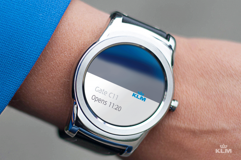 KLM Smartwatch Gate