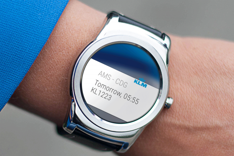 KLM Smartwatch Notification