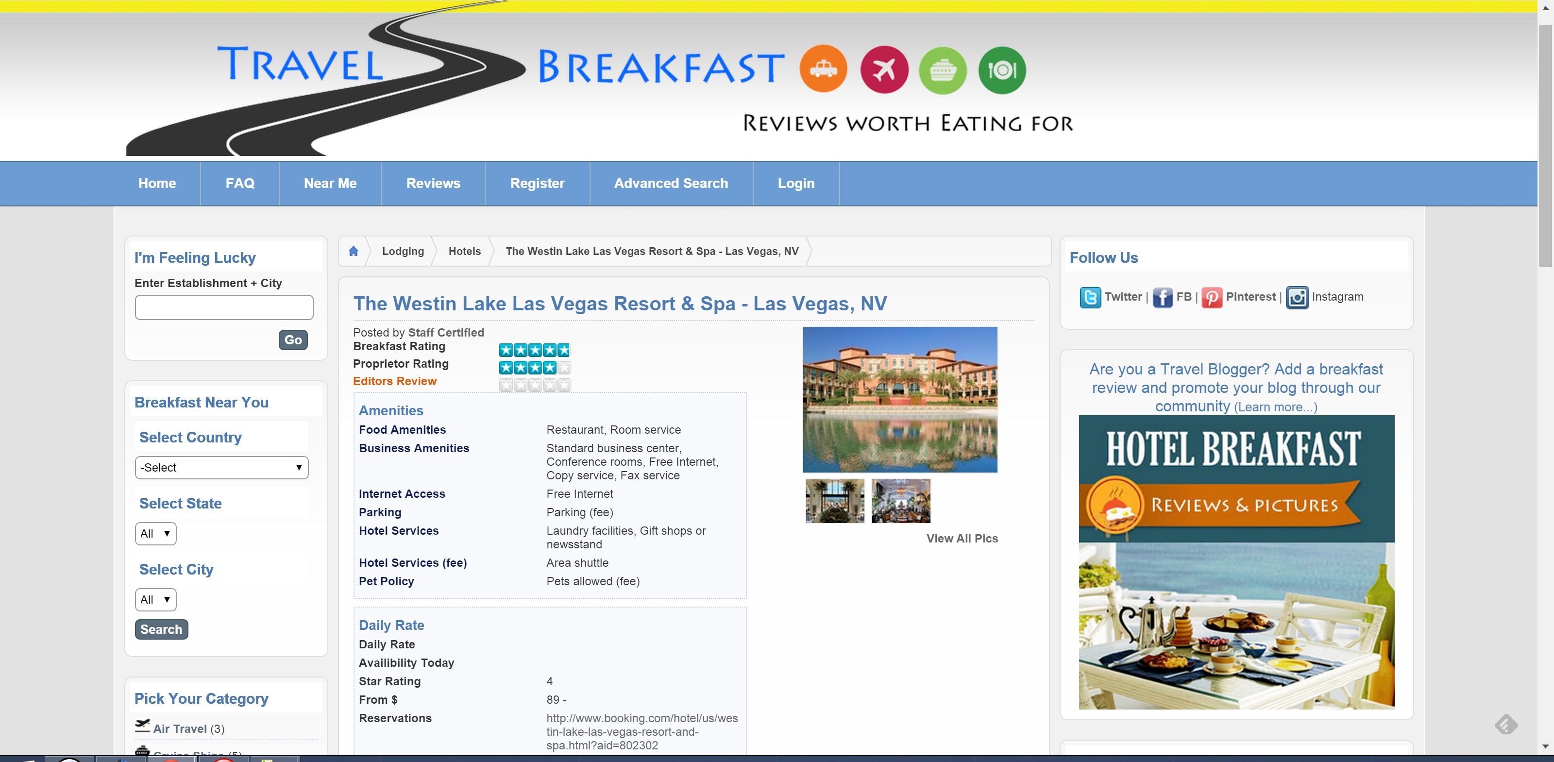 Website Tip: A site dedicated to breakfast reviews