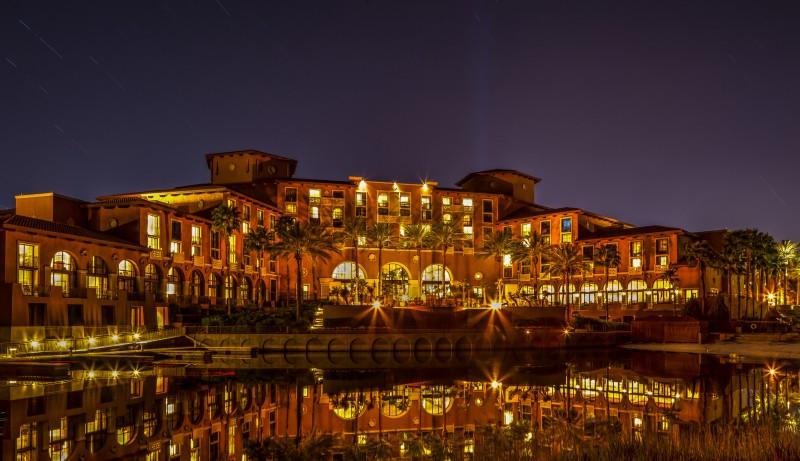 Westin Lake Las Vegas at night