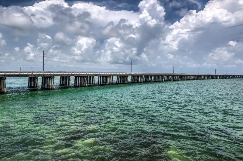 Bridge across the Florida Keys