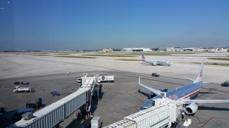View of the airport from the lounge