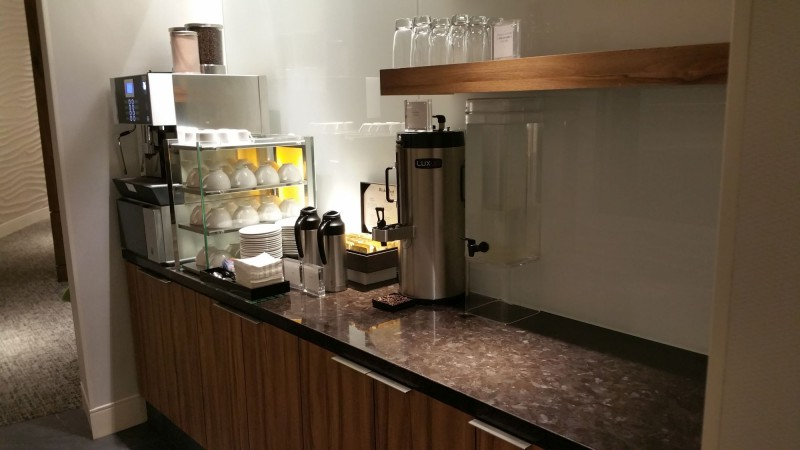 "Coffee machine at the ""secret"" seating area"