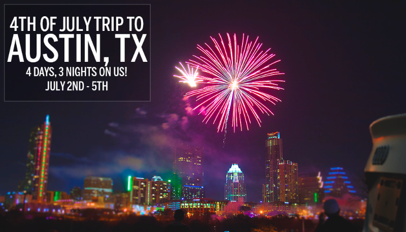 Win a trip to Austin, TX and celebrate the 4th of July with Silvercar