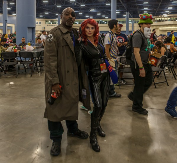 Nick Fury and Agent Romanoff