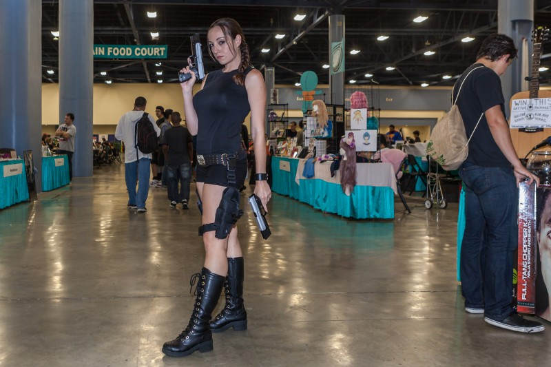 Amy Nicole as Lara Croft