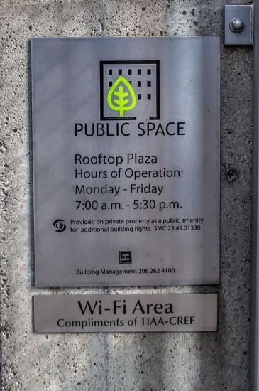 Public Space Sign