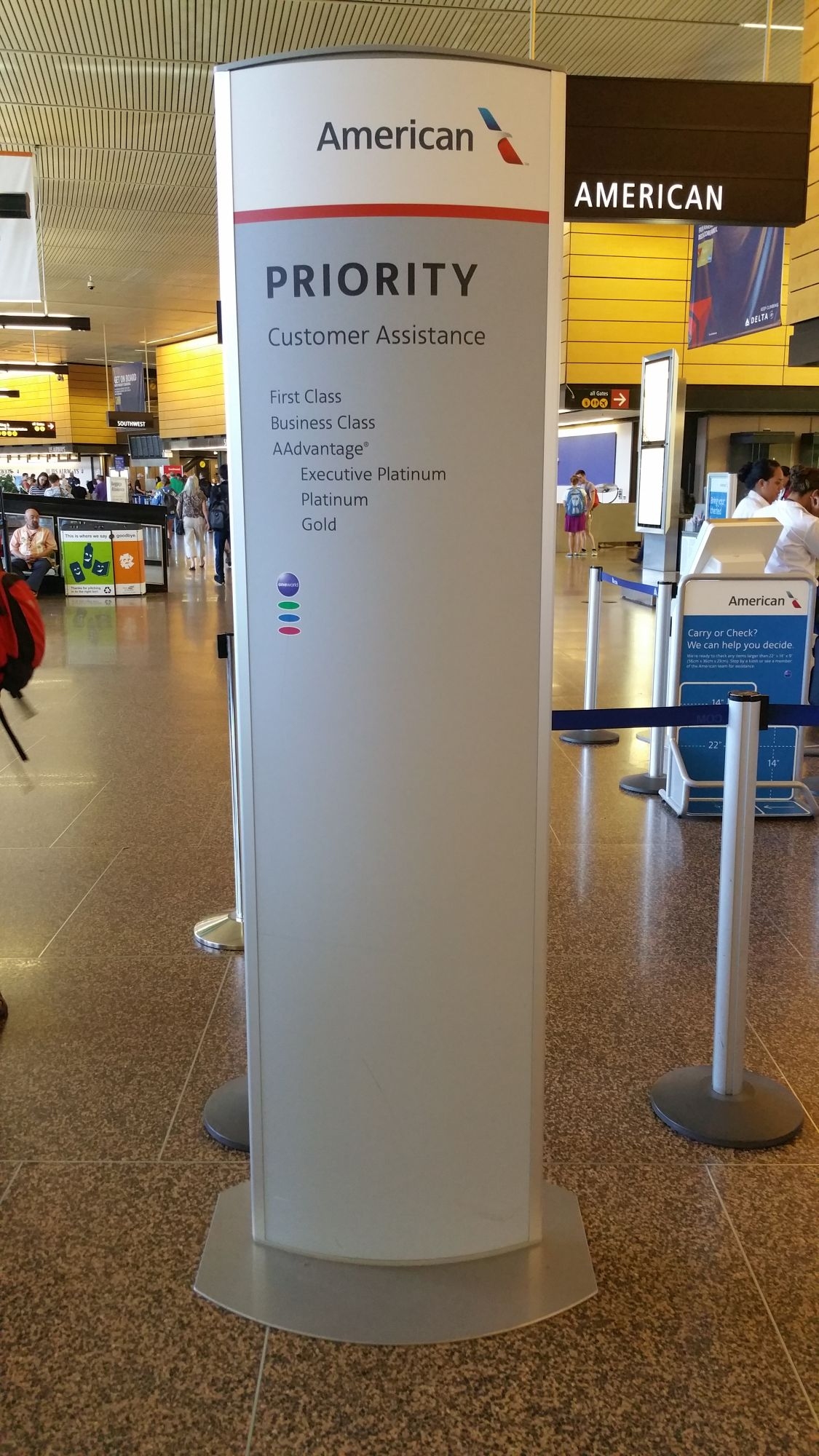 Oneworld Is Rolling Out Priority Signage Gate To Adventures