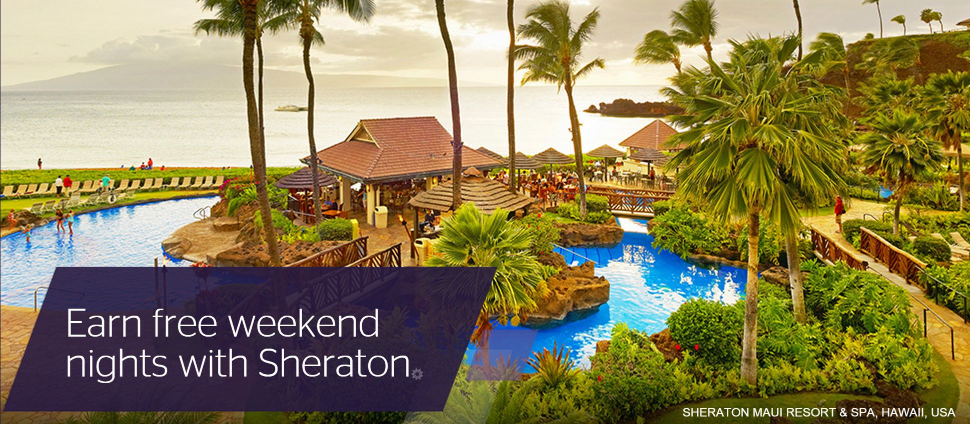 Earn free weekend nights with Sheraton