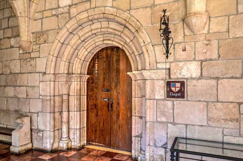 Entrance to the chapel