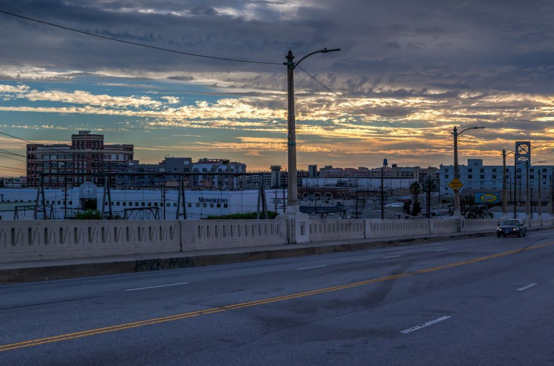 Sunset view from the Sixth Street Viaduct