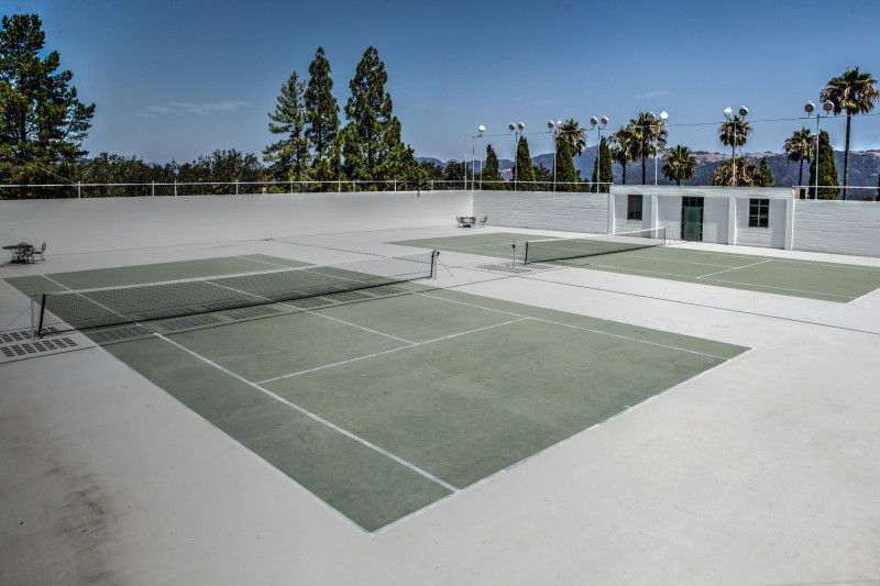 Tennis Court above the Roman Indoor Pool