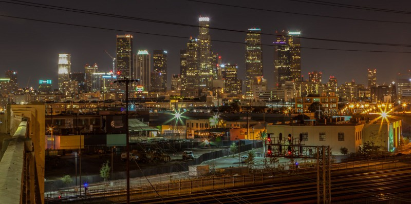 LA Skyline by night