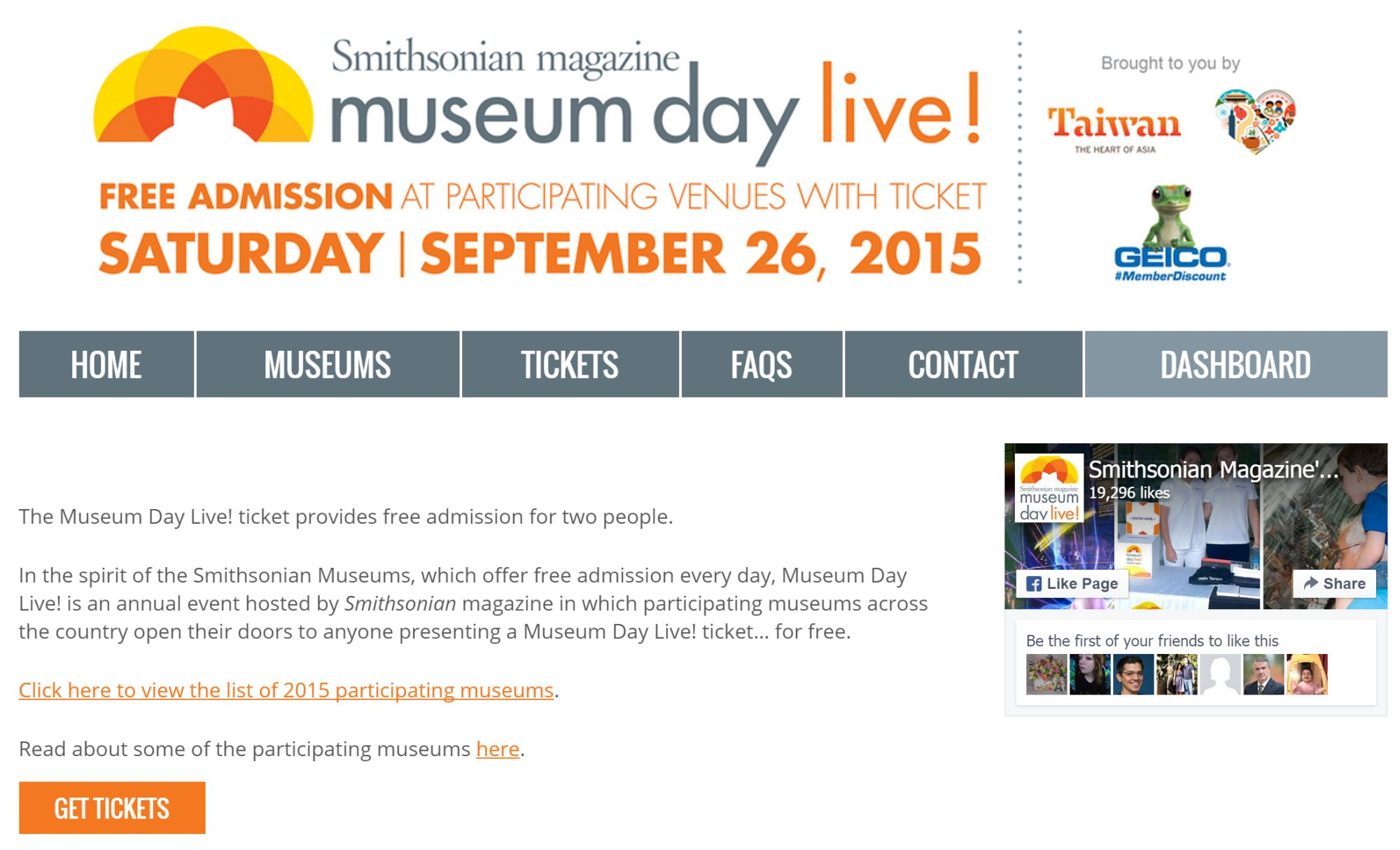 Travel Tip of the Week: Get your free Tickets for Smithsonian Magazine Museum Day 2015