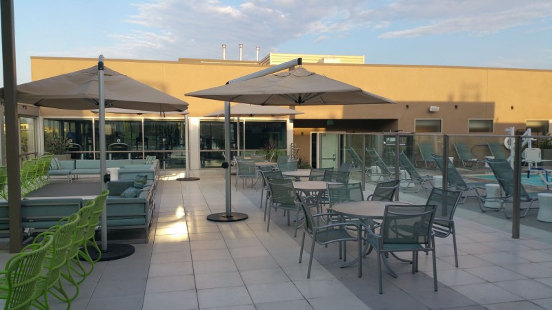 Outdoor Patio at the Rooftop