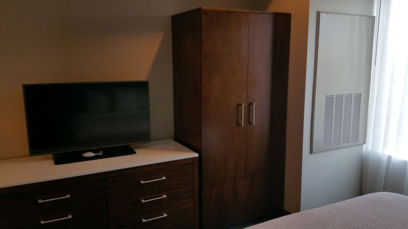 Bedroom closet and TV