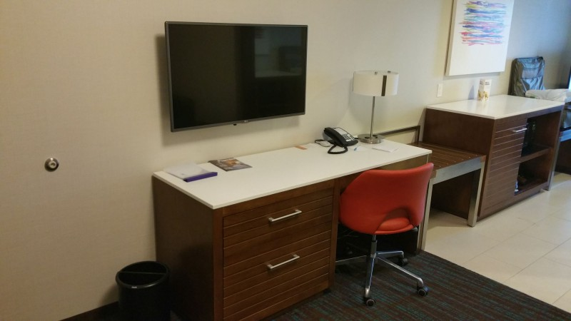 Office desk, with TV