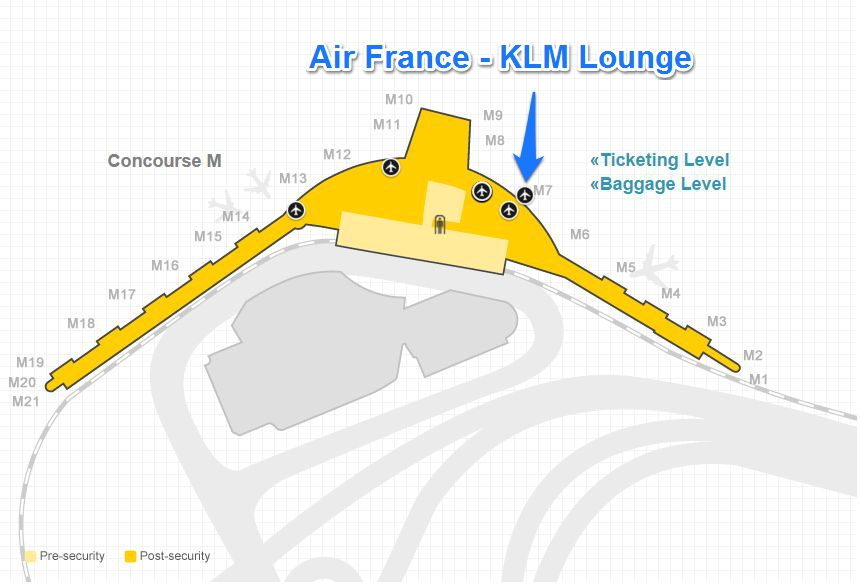 Lounge Review Air France Klm Lounge At Chicago O Hare