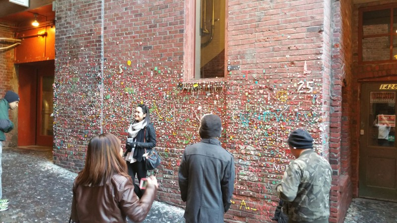 Gum Wall after cleaning