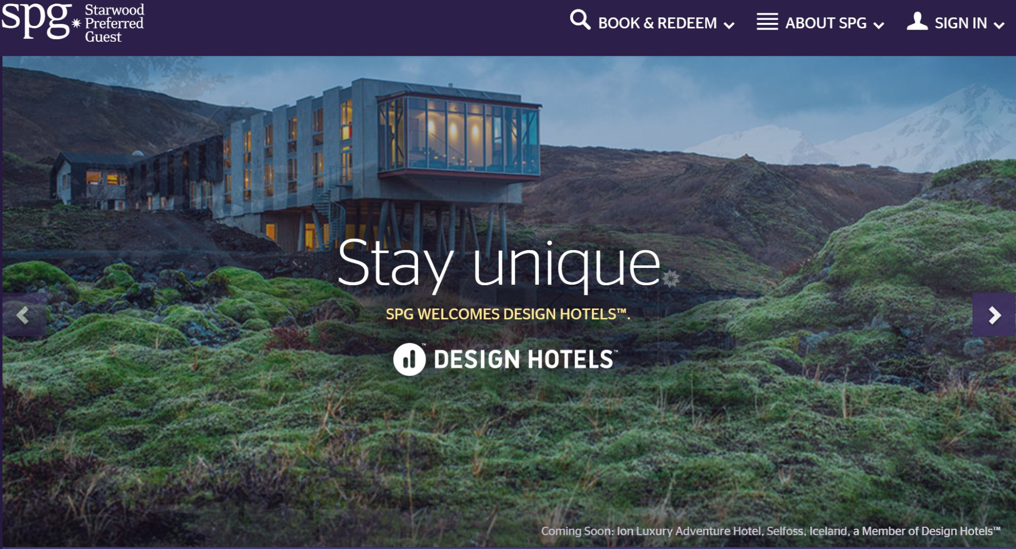 Win free spg starpoints with spg design hotels sweepstake for Design hotels 2015