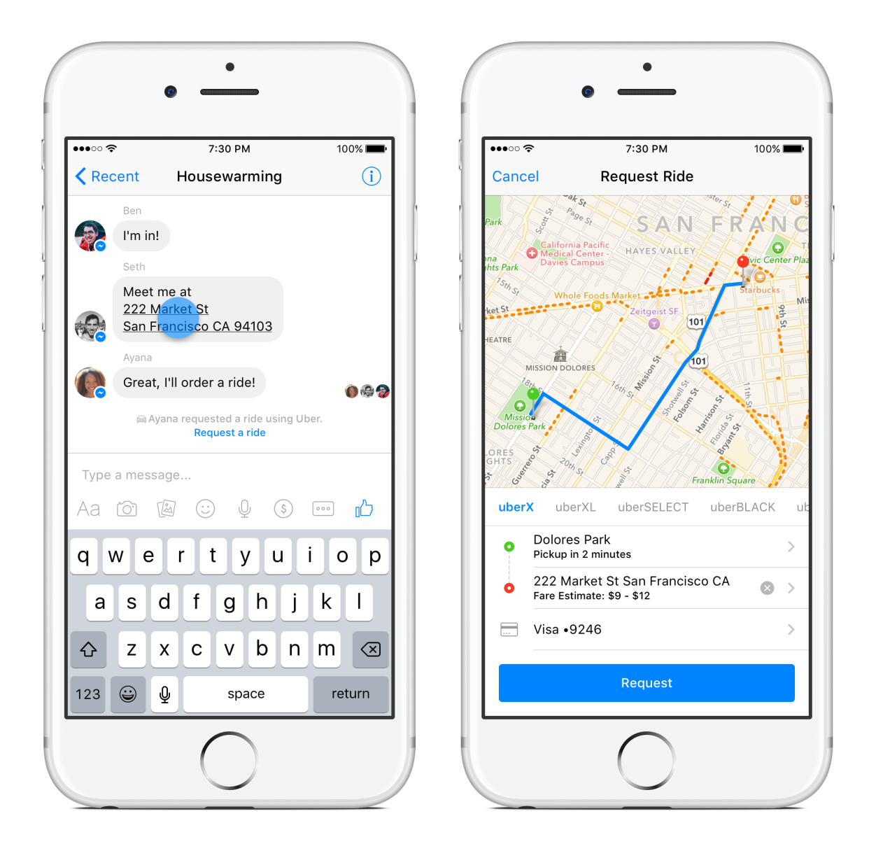 Facebook Messenger with new Feature: Transportation