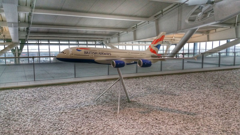 British Airways A380 model