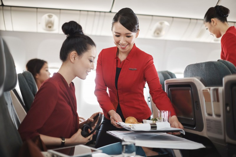 Cathay Dragon Inflight Service (c) Cathay Dragon
