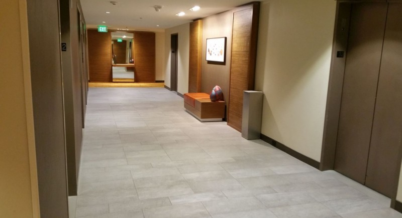 Hallway at the elevators