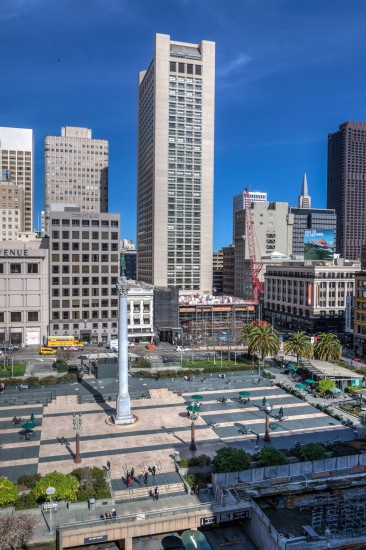 Grand Hyatt San Francisco and Union Square - viewed from the Cheesecake Factory
