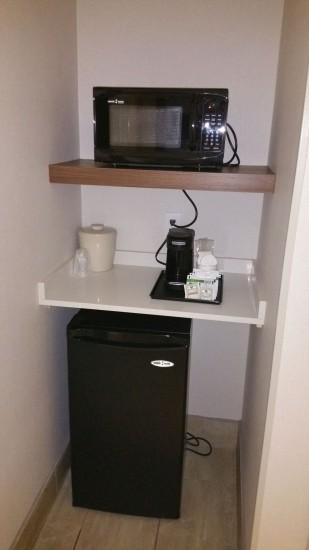 Fridge, Microwave and Coffee Maker