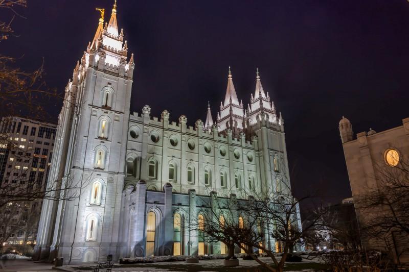Salt Lake Temple by Night