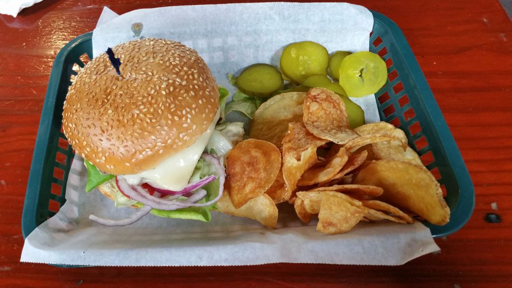Farmer's Burger at Alice's Restaurant