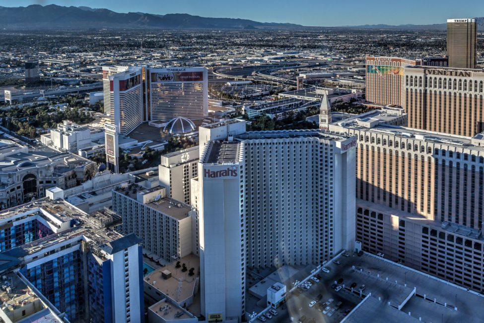 Las Vegas strip as seen from the High Roller