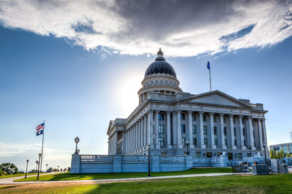 East Side of Utah's State Capitol