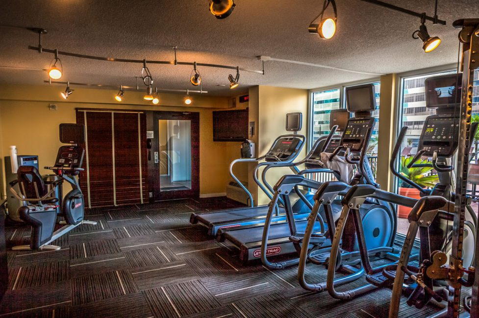 Fitness Center located on the 7th floor