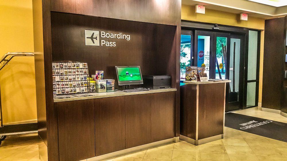 Boarding Pass Kiosk, Concierge Desk and Vouchers