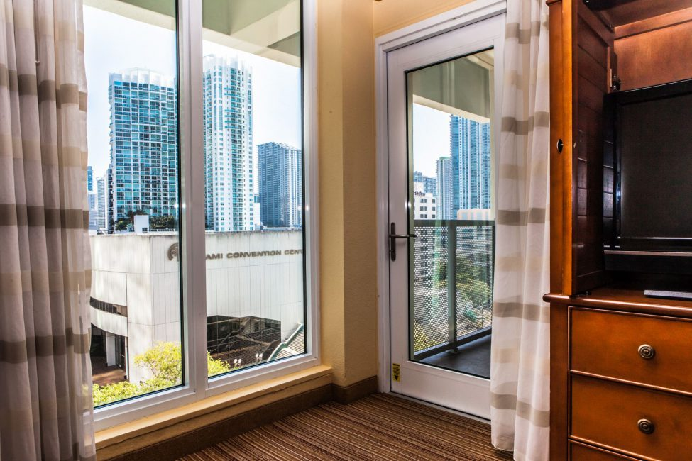 View from my Suite with door to the balcony