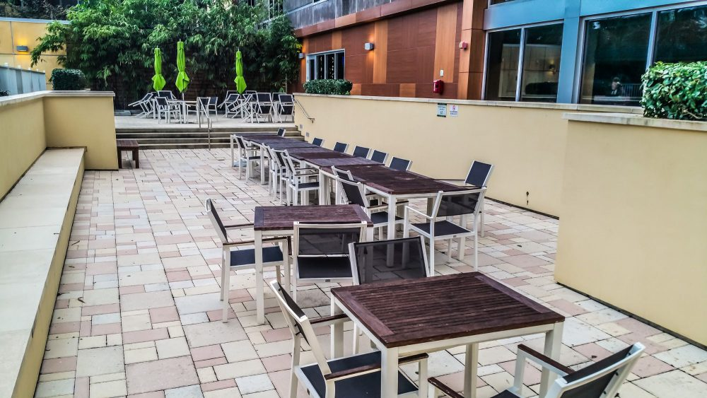 Social Area next to the Pool