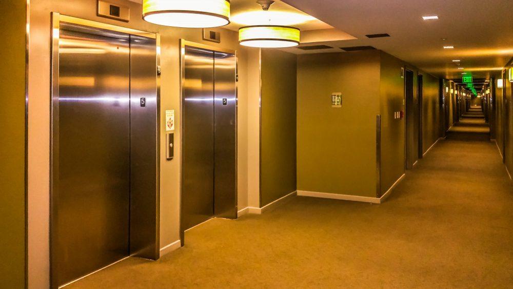 Hotel Floor and Elevator